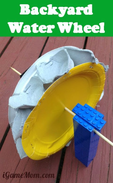 Lego Water Wheel Science Project - this is such a fun summer activity for kids using STEM skills at the same time as exploring alternative energy