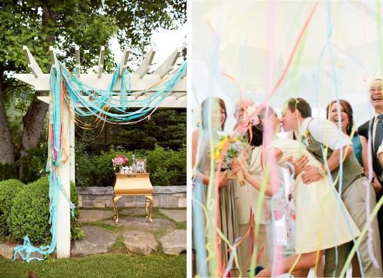 DIY wedding streamers