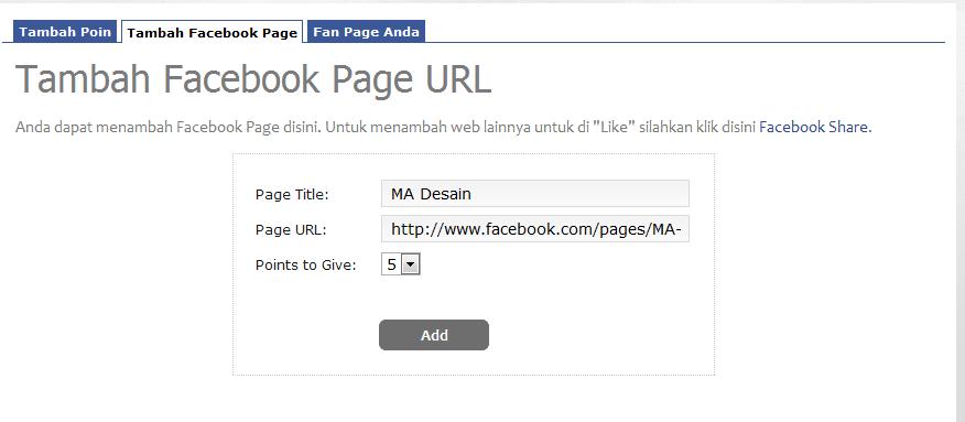 cara meningkatkan like Fanspage Facebook