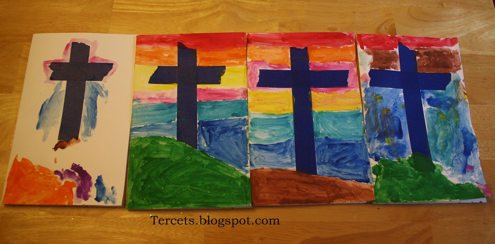 Tercets Cards for the Easter Season – Religious Easter Cards to Make