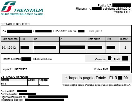 prenotare Trenitalia
