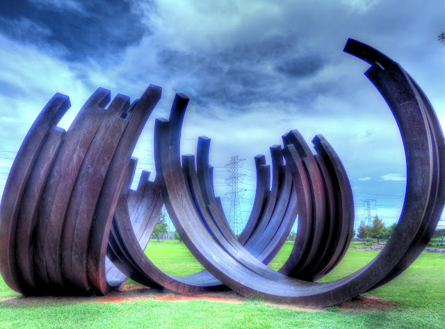Oyster Creek Park - Iron Art Work 2 - Sugar Land Texas