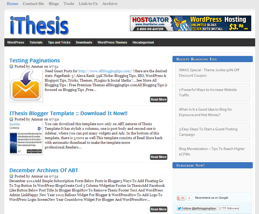 thesis themes for blogger How can you get the most out of your thesis theme check few tips which can help you in setting your thesis theme correctly and making your blog look good.