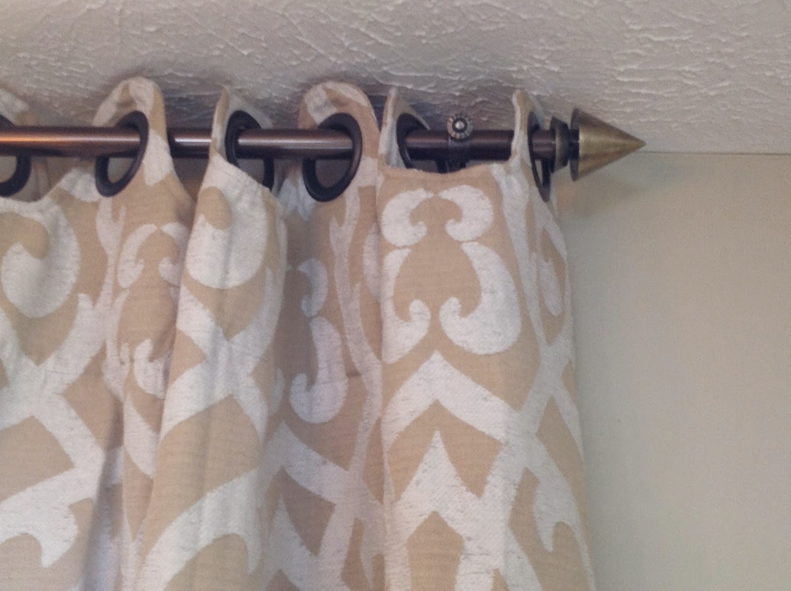 Ha ha hanging curtains interior design - I Really Love The New Rods That We Put Up Although I May Need To Install A Neon Sign Pointing Toward Them So That Guests Will Take Note Haha
