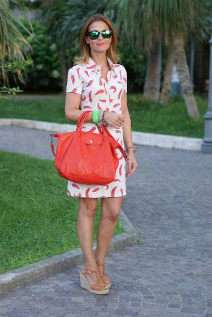 Steve Madden shoes, red hot chili peppers dress, happiness dress, Longchamp bag, Fashion and Cookies, fashion blogger