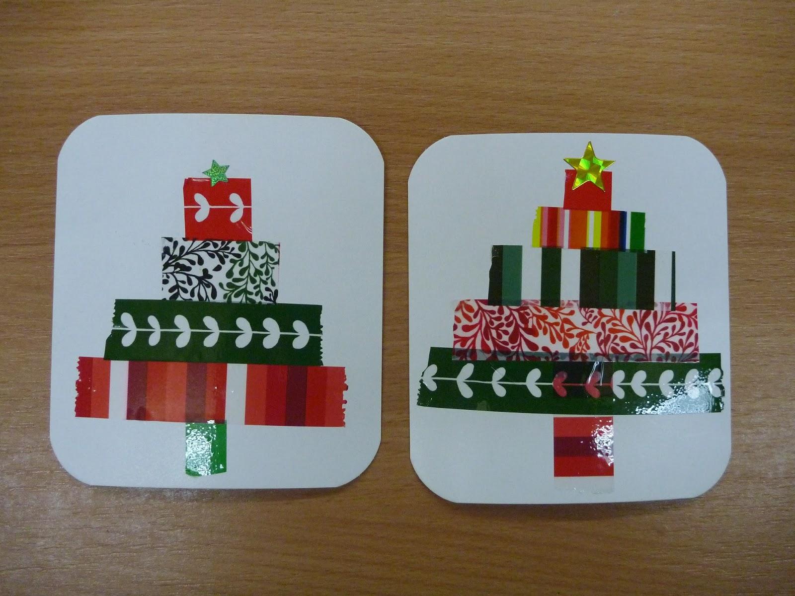 M rlimuus weihnachtskarten tannenbaum for Weihnachtskarten mit kindern basteln