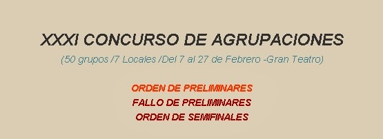 CLASIFICACIÓN, ORDEN, AUDIOS Y VÍDEOS 2014