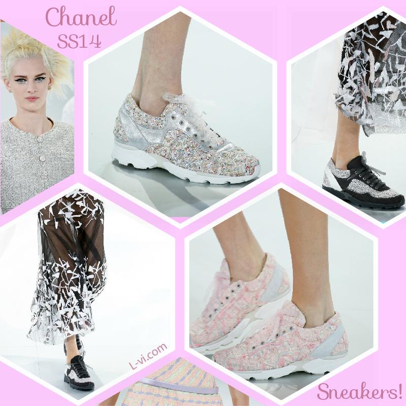 Chanel SS14: Sneakers + dresses   L-vi.com