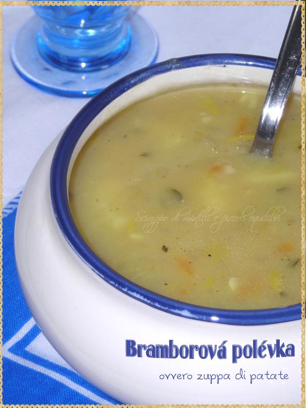Zuppa di patate con funghi tipica della Repubblica Ceca