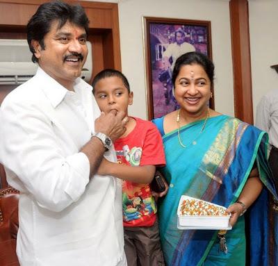 Sarathkumar and Raadhika Sarathkumar