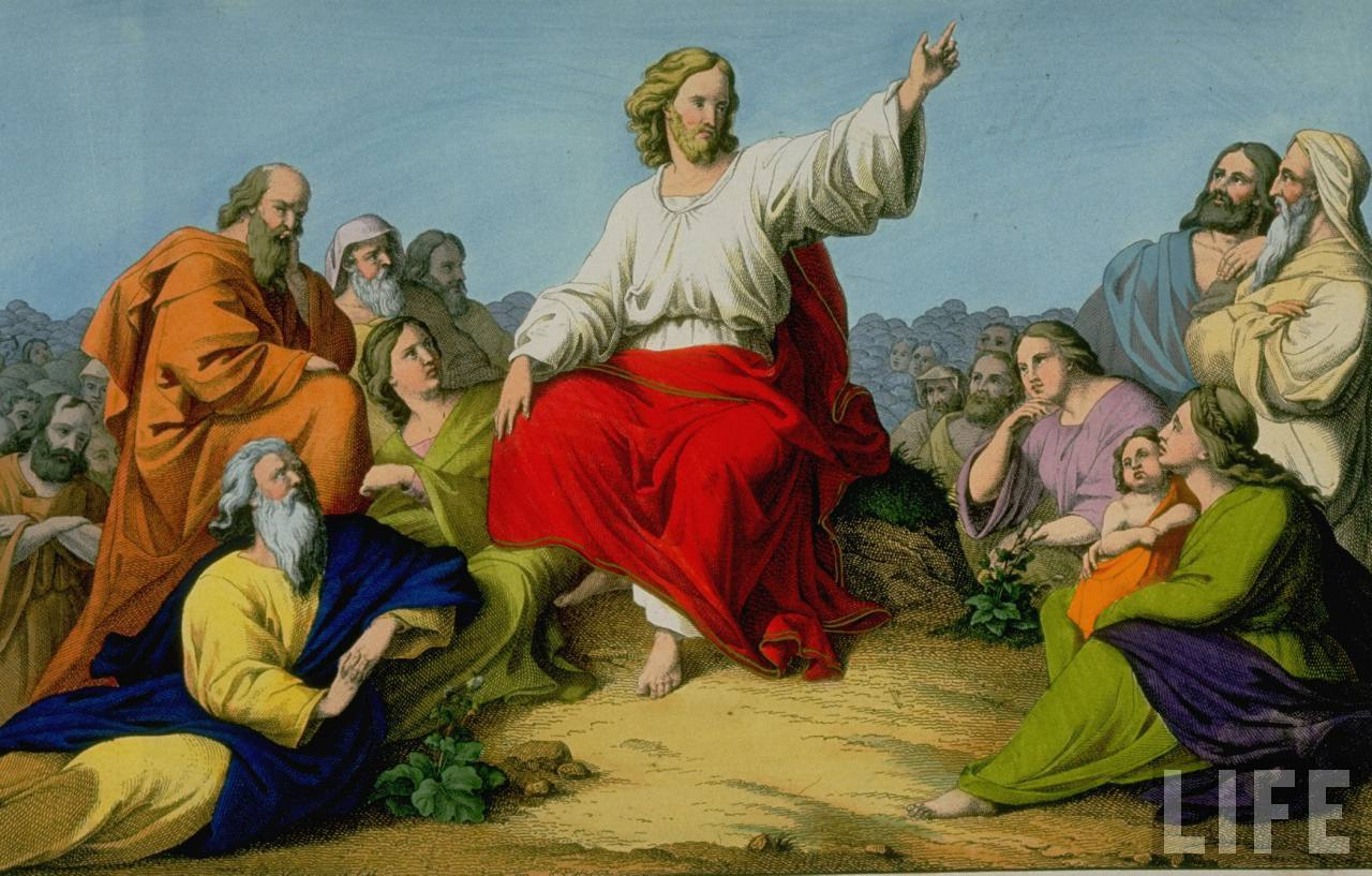 Jesus preaching the sermon on the mount1 jpg