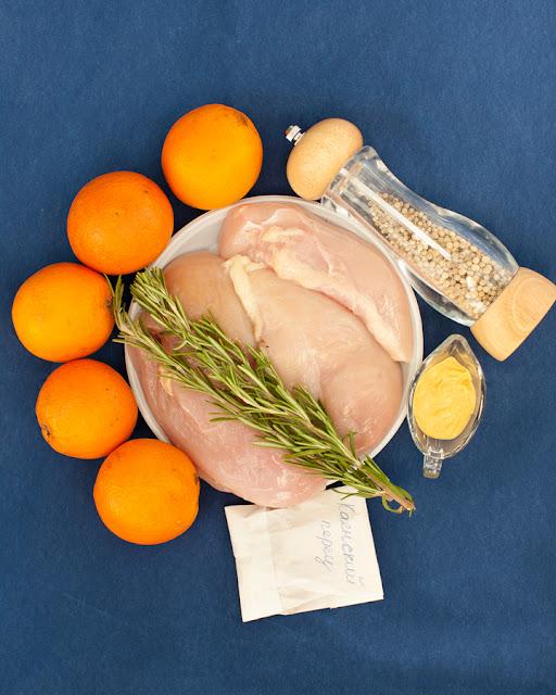 Для куриной грудинки в апельсиновом маринаде