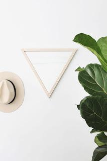 membuat cermin segitiga yang cantik