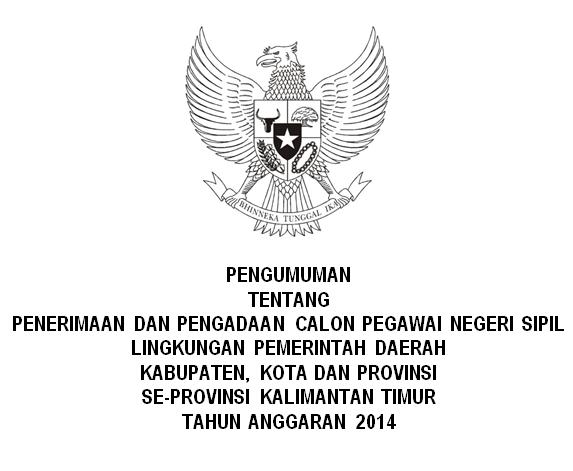 Penerimaan CPNS Seluruh Kalimantan Timur