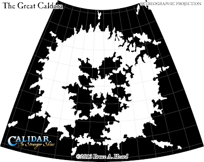 Great Caldera, Calidar, Stereographic Projection