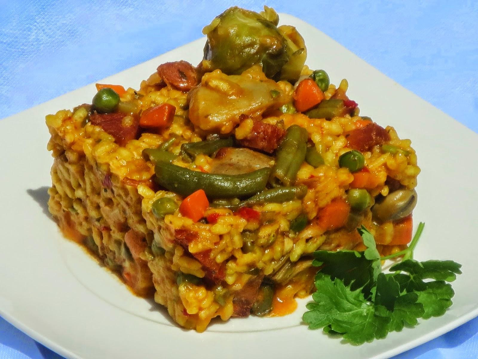 Arroz de menestra con jamón Ana Sevilla cocina tradicional