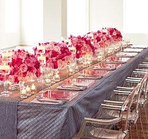Romantic Wedding Table Settings