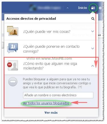 bloqueos, facebook, 2013