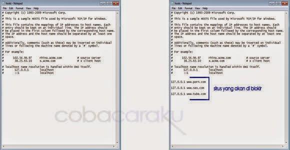 Cara Mudah Memblokir Situs Web Tanpa Software. | Coba Caraku