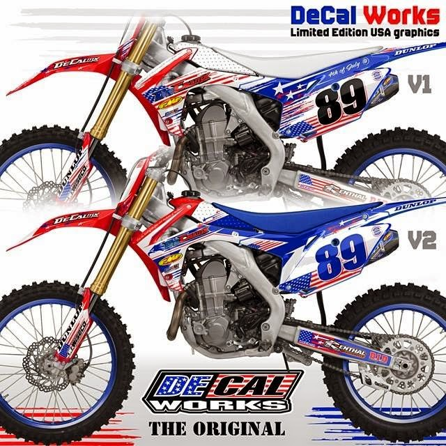 Motocross Press DeCal Works Announces Limited Edition USA Graphics - Decal works graphics