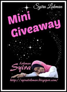 Mini Giveaway by Syira Lokman,Giveaway