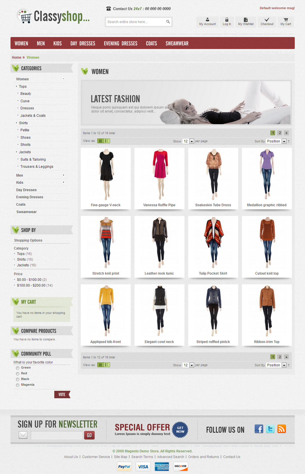 Online Shop Template. free online shop website templates 91 free ...