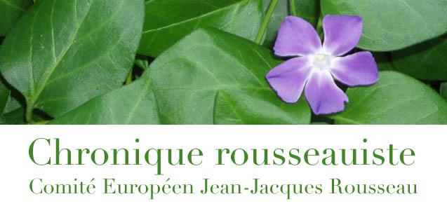 Chronique rousseauiste - CEJJR
