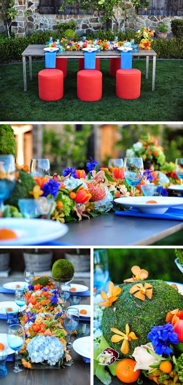 Wedding Decorations Blue And Orange : Modern orange and blue wedding stuff ideas