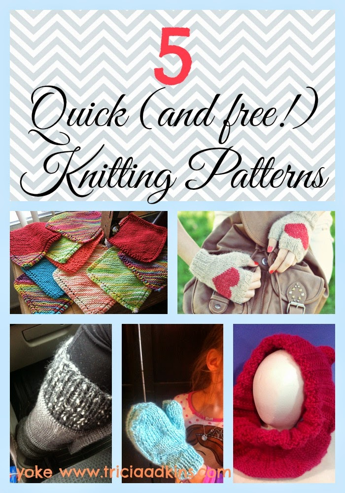 Easy Knitting Projects For Gifts : Yoke five quick and free knitting patterns for last