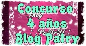 Concurso 4 años Blog Patry