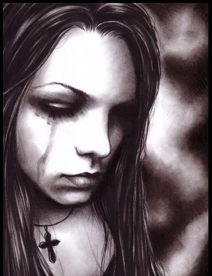 Sad And Alone Girl weeping