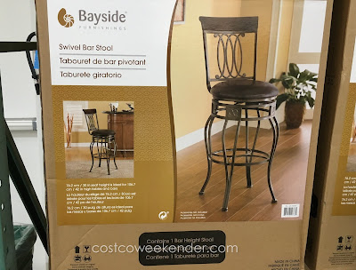 Enhance your home bar with the Bayside Furnishings Swivel Bar Stool