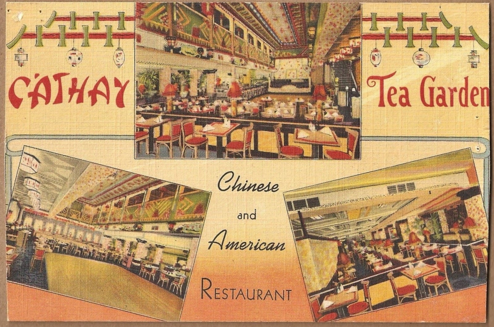 POSTCARDS: Cathay Tea Garden Restaurant in Philadelphia