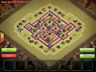 Formasi Base Clash of Clans TH7 3 Air Defense