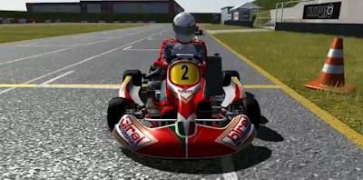 de karting en el simulador