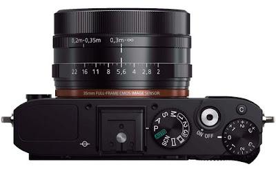 Fotografia dei comandi della Sony RX1