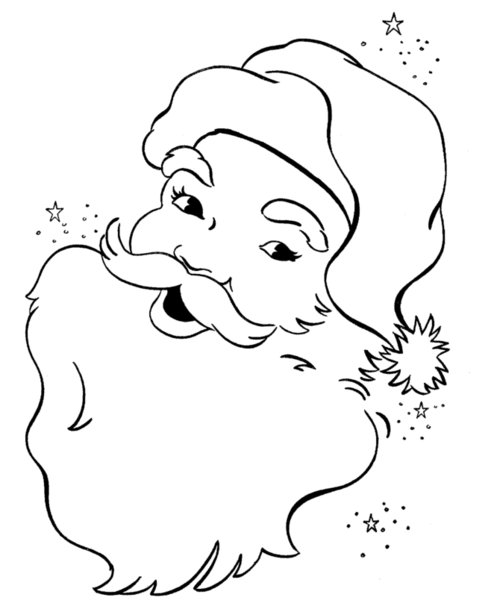 santa claus head coloring pages