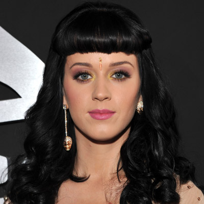 Katy perry Long Black Hairstyle