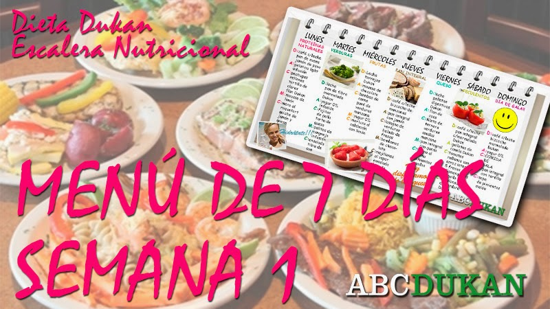 menu de 7 dias escalera nutricional semana 1