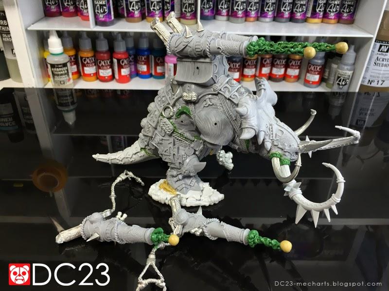Hordes Skorne Mammoth Green Stuff Modificationsphoto