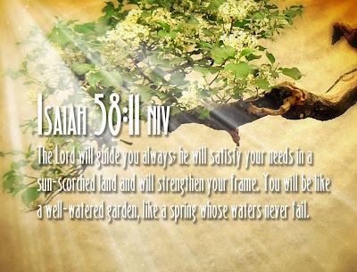 Isaiah 58:11 Bible Verse