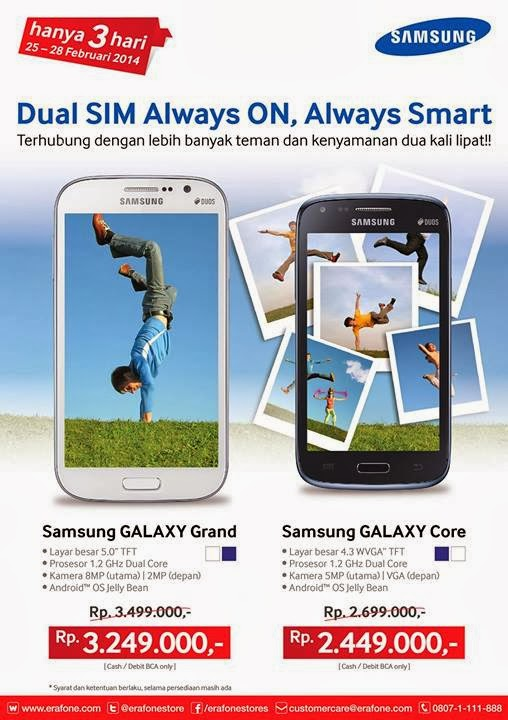 Promo Samsung Galaxy Core dan Samsung Galaxy Grand