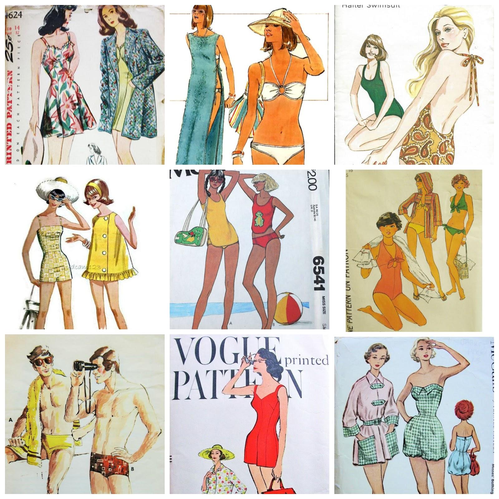 Pattern Patter : Vintage Summer Swimwear from the Pattern Patter Team
