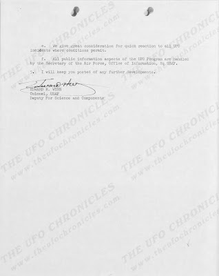 Congressional Investigation of The UFO Program, Letter To General Pierce From Colonel Edward Wynn (2 of 2) - 7-3-1961