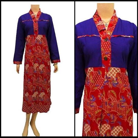 model gamis batik gaya modern