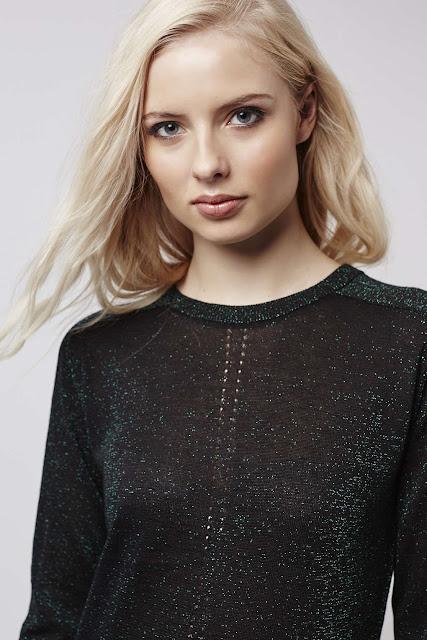 black green sparkly top, black sparkly jumper, topshop metallic jumper,