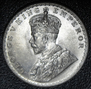 george v one rupee 1919 obv