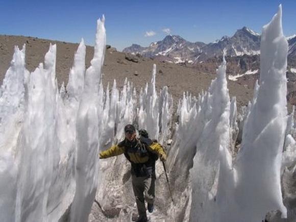 Once maravillas de hielo.