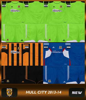 PES 2013 Hull City GDB Kits 13/14 Download Link