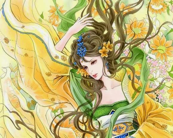 Chinese Painting Girls Wallpaper